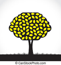 Lemon tree - Abstract symbolic lemon tree illustration, with...