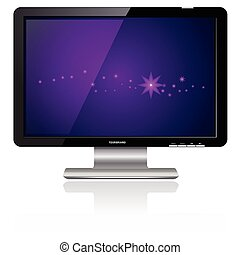 Computer Flat LCD Plasma Monitor Display, vector