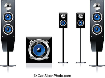 Home Theater Loud Speakers vector