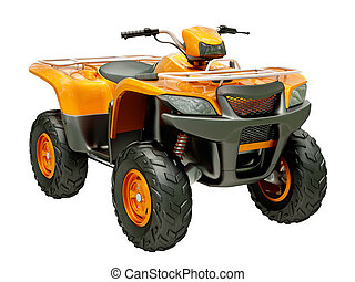 Quad bike isolated - Sports quad bike isolated on a light...