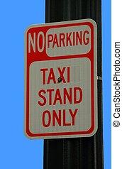 taxi cab parking sign