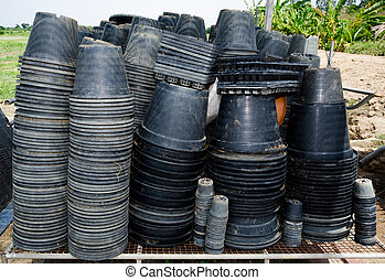 Plastic pots for growing seedling