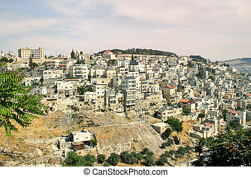 Palestinian village on the slopes of Jerusalem, Israel. -...