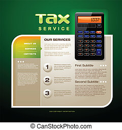Tax Firm web site template detailed vector