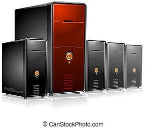Set of computer Servers vector