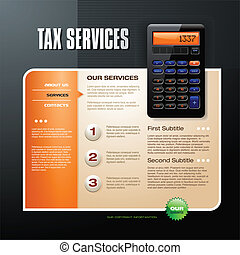Tax Firm web template brochure vector