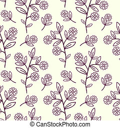 Floral pattern -  Seamless graphic decorative floral pattern