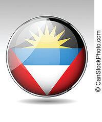 Anitgua and Barbuda flag button