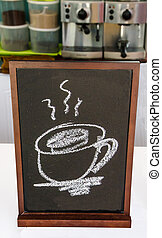 Blackboard of menu coffee in coffeeshop