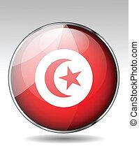 Tunisia flag button
