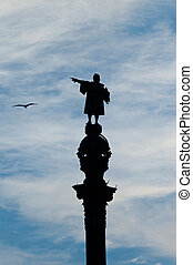 Statue of Christopher Columbus - Christopher Columbus shows...