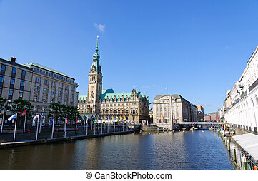 The city hall of Hamburg - It is the seat of the government...
