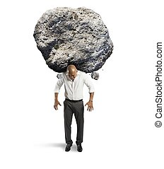 Stress of a businessman - Concept of stress of a businessman...