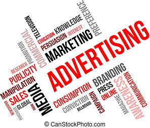 word cloud - advertising - A word cloud of advertising...