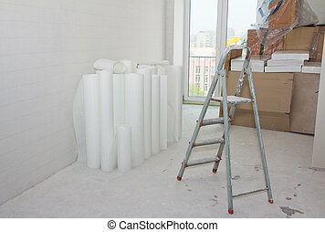 Home improvement - home improvement: white glass wallpaper...
