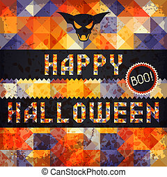 Happy Halloween grungy retro background.
