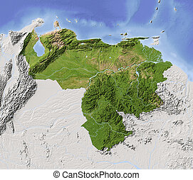 Venezuela, shaded relief map - Venezuela Shaded relief map...