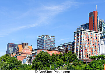 Hamburg, Germany - Buildings of Sankt Pauli district in...