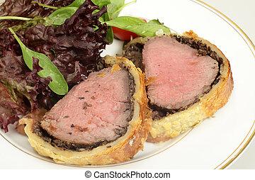 Beef wellington meal