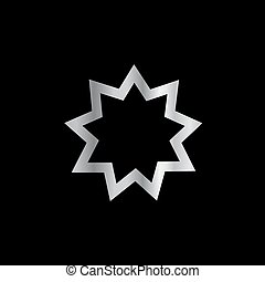 Bahai religion Symbol Nine pointed star