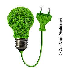 eco energy bulb isolated