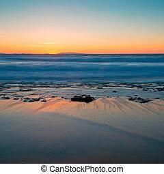 scenic sunset in Castelsardo, Sardinia