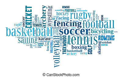 Sports word cloud