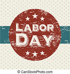 labor day over dotted background vector illustration