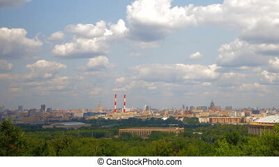 view from the observation deck Vorobyovy Gory panorama -...