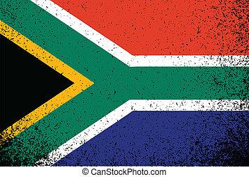 south africa grunge ink flag illustration