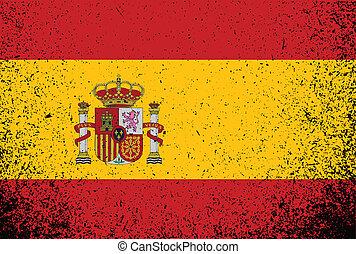 spanish grunge ink flag illustration design