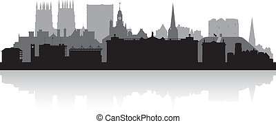 York city skyline silhouette vector illustration