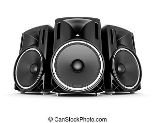 music speakers - music speaker isolated on white background