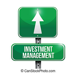 investment management road sign illustration design over...