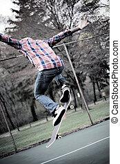 Skateboarder Ollie