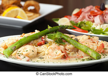 Shrimp Scampi with Asparagus - A delicious shrimp scampi...