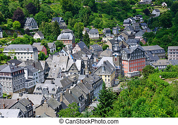 The old town of Monschau in Germany - Monschau is a small...