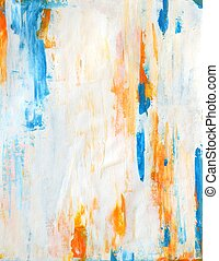 Teal and Orange Abstract Art