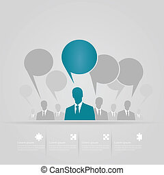 Debate infographics vector illustration background