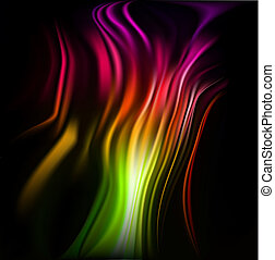 Colorful wavy abstract background for design