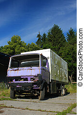 Old desolated lorry