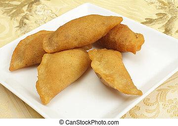 Katayef fried pancakes - Katayef is the traditional sweet...