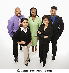 Business people - Portrait of multi-ethnic business group...