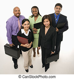Work force. - Portrait of multi-ethnic business group...