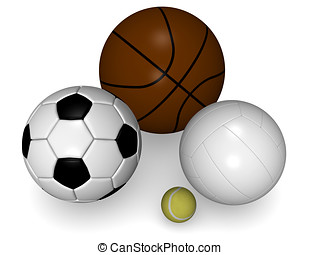 Sports balls - Various balls for playing diverse sports