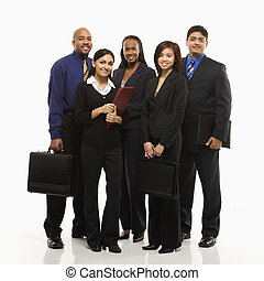 Business group portrait. - Multi-ethnic business group of...