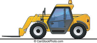 Forklift - A Vector .eps 8 illustration of the forklift.