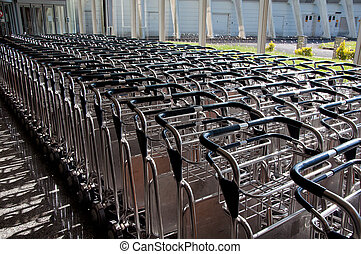 Trolley for luggage or baggage transportation at airports -...