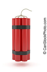 Dynamite - 3d render of dynamite isolated on white...