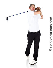 Professional golf player - Handsome young professional golf...